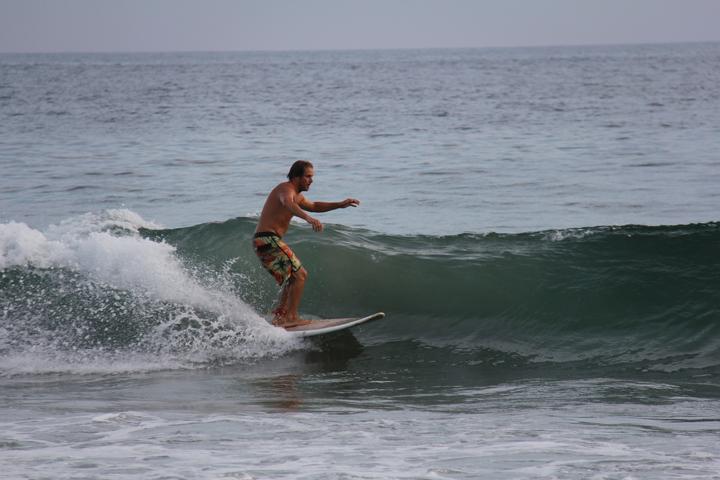Petite session de surf tranquille à San Agustinillo Photo : Kristine Choinière