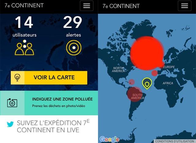 Capture d'écran Application 7e continent
