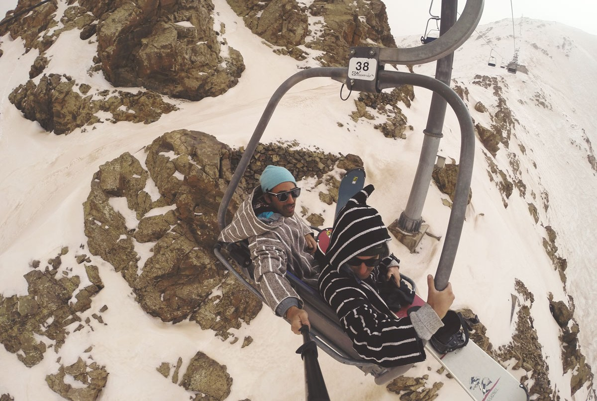 Snowboard au Mont Oukameiden