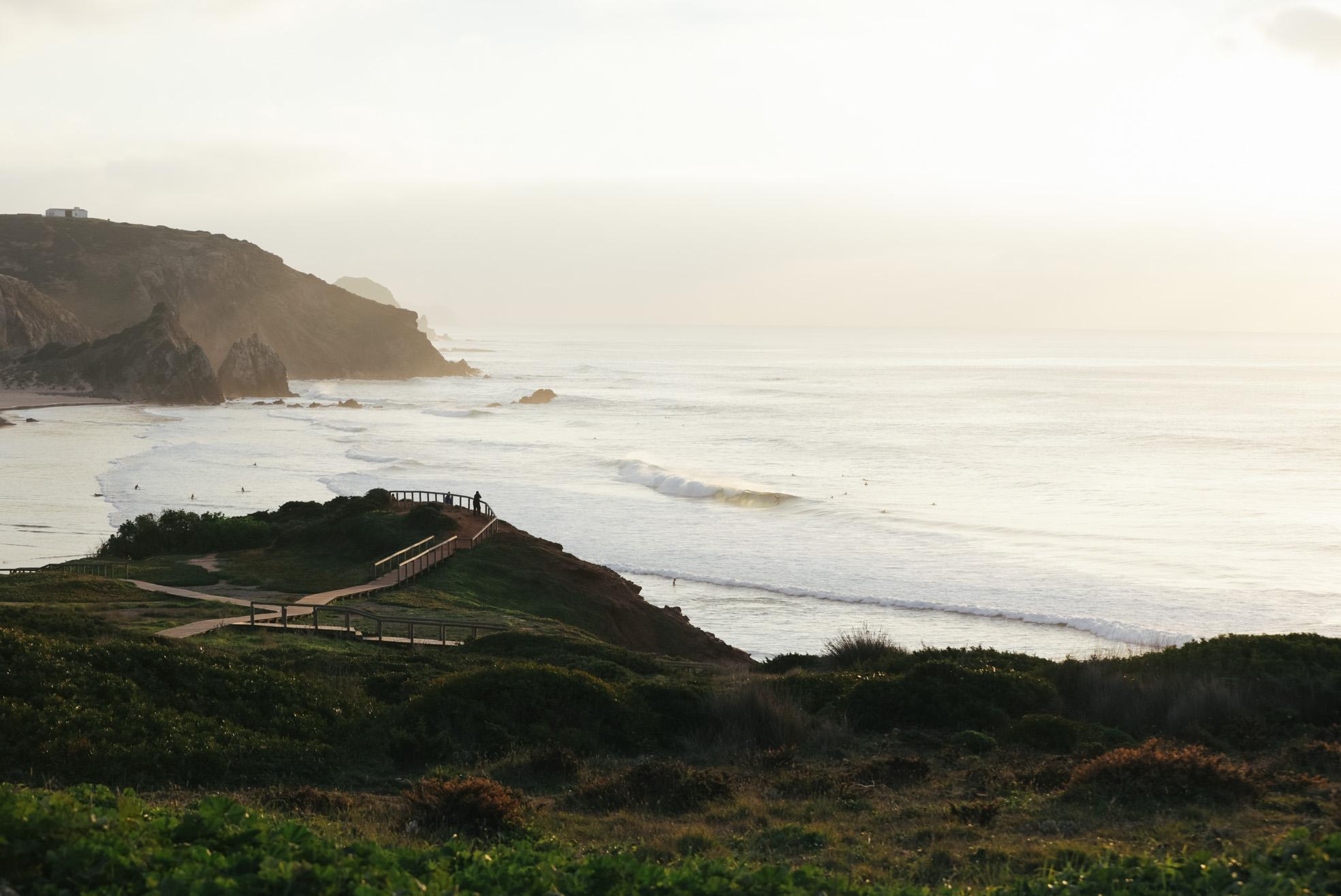 Plage de surf magnifique au Portugal