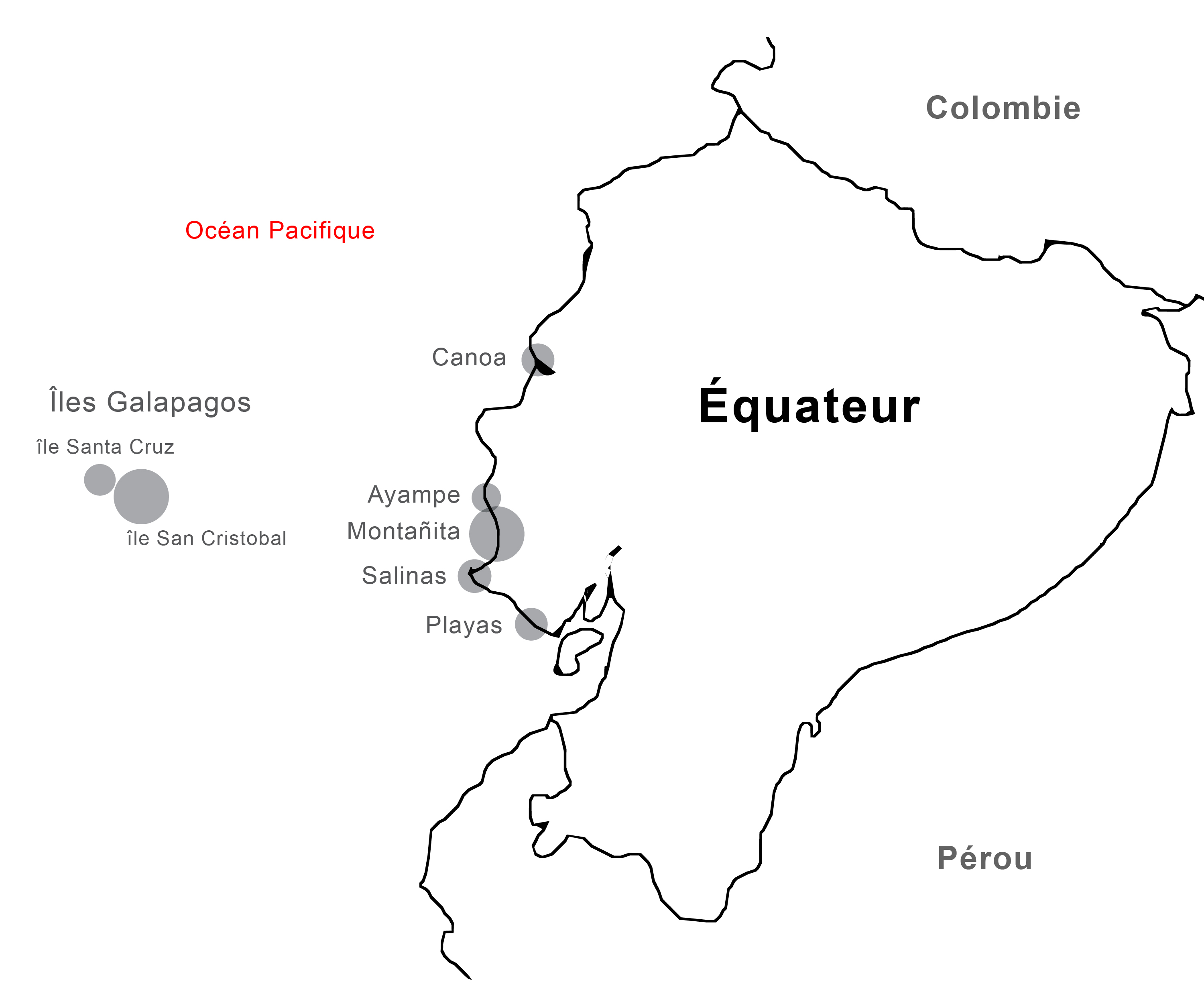 Ecuador surf map