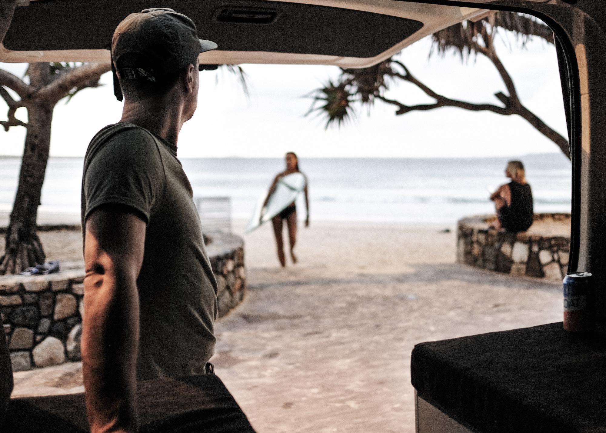 Surf trip en van aménagé