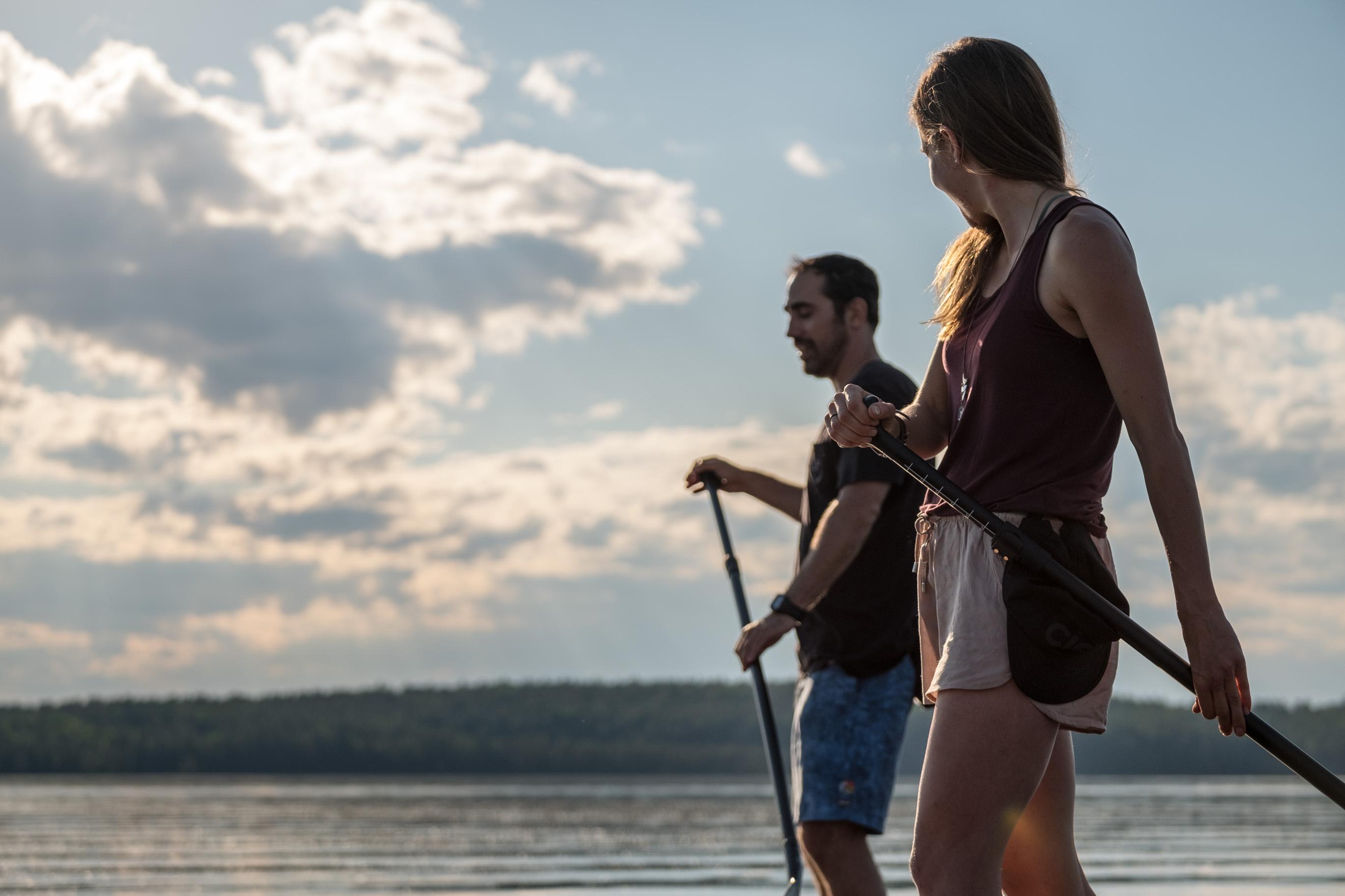 Planche à pagaie au lac des 31 milles