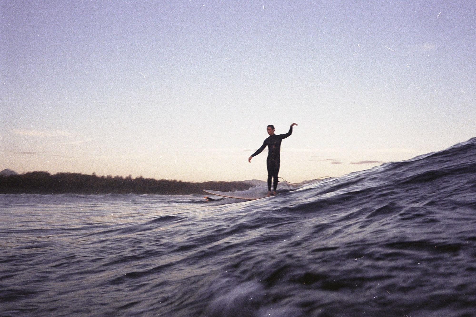 photographie de surf sur pellicule